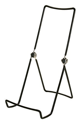 "GIBSON HOLDERS 6 Adjustable Wire Display Easels- 3.75"" W x 8"" H with 2.25"" Display Ledge, Black"