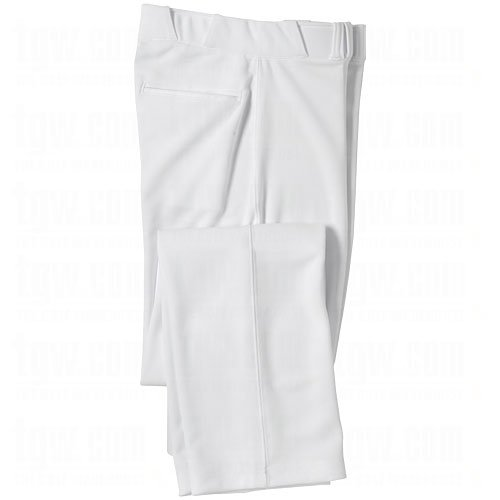 CHAMPRO Open Bottom Relaxed Fit Mens Baseball Pant White Small