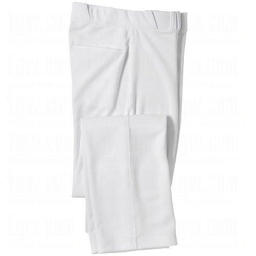 CHAMPRO Open Bottom Relaxed Fit Mens Baseball Pant White Small (Baseball Pants Weight)