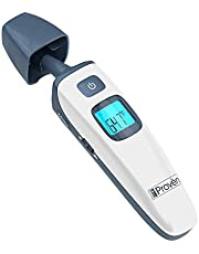 Baby Forehead and Ear Thermometer - with Object Mode - Easy to use for Your Newborn - Quick Read and No Touch - with Fever Warning and Mute Function - iProvèn Triple Mode Thermometer TMT-215