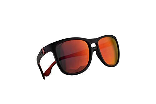 Carrera 5050/S Sunglasses Matte Black w/Red Mirror Lens 56mm BLXUZ CA5050/S 5050S (Carrera Sunglasses Men 56)