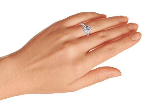.925 Sterling Silver Emerald Cut Solitaire CZ Engagement Ring by Bling Jewelry (Image #6)