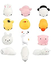 Cute Animal Mochi Squeeze Toys Cute Ball Soft Finger Animal Toy Kawaii Mini Soft Squeeze Toy, Fidget Hand Speelgoed Voor Kids Gift, Stress Relief Decoratie
