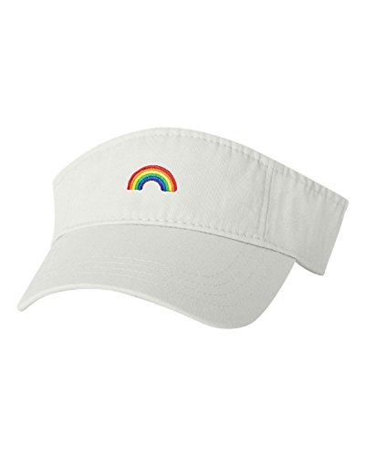 lt Rainbow Embroidered Visor Dad Hat (Rainbow Embroidered Hat)