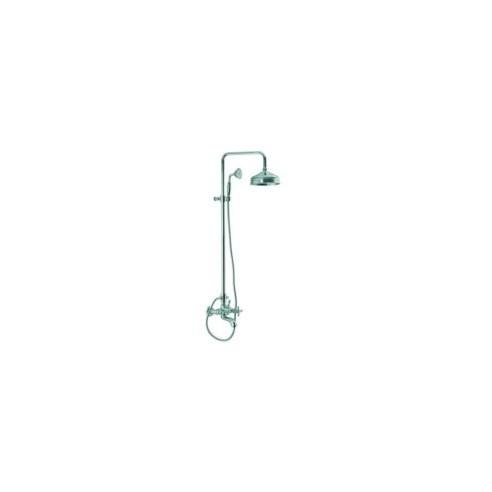 Elizabeth Wall Mount Thermostatic Tub and Shower Faucet with Hand Shower Finish Old Copper