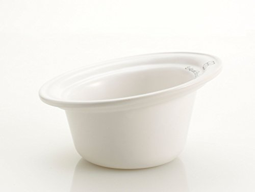 Petego Tulip Ceramic Dog Bowl, White, Large, used for sale  Delivered anywhere in USA
