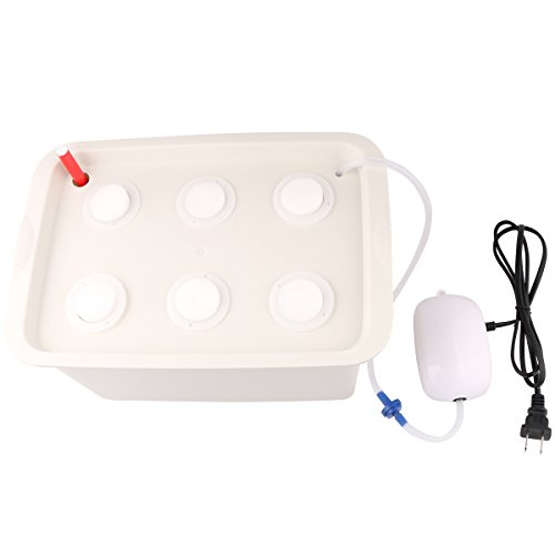 Aunifun Hydroponics Grower Kit DIY Self Watering Indoor Hydroponics Tools DWC Hydroponic System Planting Container Include Aquarium Air Pump Buoy Planting Box