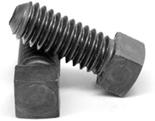 FT Coarse Thread Square Head Set Screw Cup Point Through Hardened Alloy Steel Plain Finish Pk 25 5//8-11 x 3 1//2