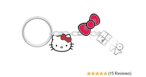 e785696e0 Amazon.com: SANRIO PlastiColor 4297R01 Hello Kitty Charm Key Chain:  Automotive
