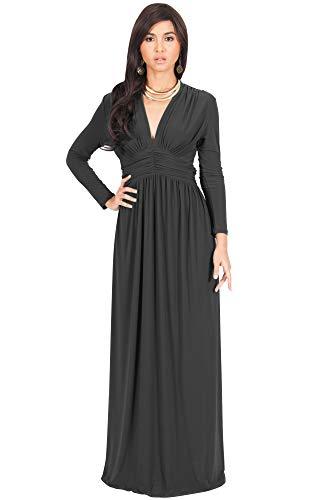 b1915775299c KOH KOH Plus Size Womens Long Sleeve Sleeves Vintage V-Neck Autumn Fall  Winter Formal