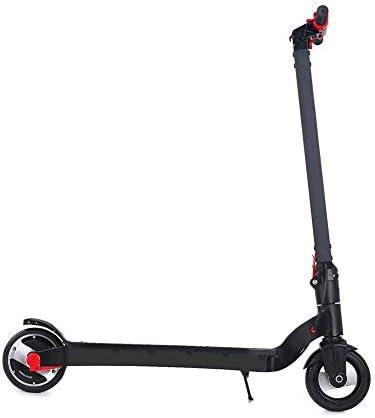 ミニ電動スクーター6.5インチ 子供と大人のための折りたたみシティスクーター自転車 黒赤