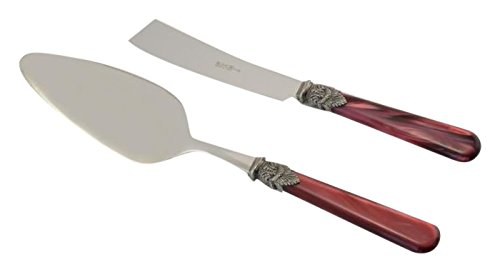 Arvindgroup ETS2NPD/PE8 Napoleon Collection Cake/Pastry Server Set, Bordeaux