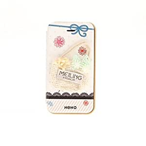 TY- Versión coreana de tela Flores Style Series Cases Novelty intertexture bolso de cuero PU cuerpo para el iPhone 4/4S