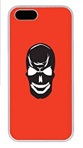 Hot iPhone 5S Customized Unique Print Design Skulls Set2 New Fashion PC White iPhone 5/5S Cases