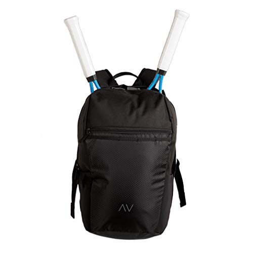 cfc1940fc5 Gigavibe Tennis Backpack in Black with Quad Zip Racquet Holder