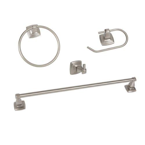 On Sale Regal Series Piece Satin Nickel Bathroom Hardware Set - Bathroom hardware sale