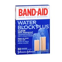 BAND-AID Bandages Water Block Plus Clear Assorted Sizes 30 Each (Pack of 2)