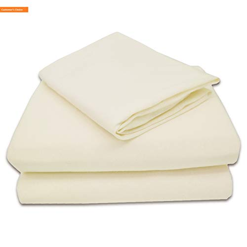 Mikash New Soft 100% Natural Jersey Cotton 3-Piece Toddler Sheet Set, Ecru, Soft Breathable, for Boys and Girls | Style ()