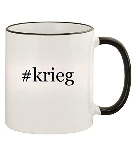 #krieg - 11oz Hashtag Colored Rim and Handle Coffee Mug, Black