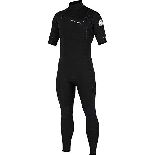Rip Curl Aggrolite Short Sleeve 2/Glued & Chest Zip Steamer, Black/Black, Large/Small