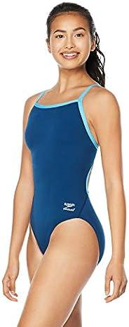 Speedo Big Girls' Race Endurance+ Polyester Flyback Training Swim