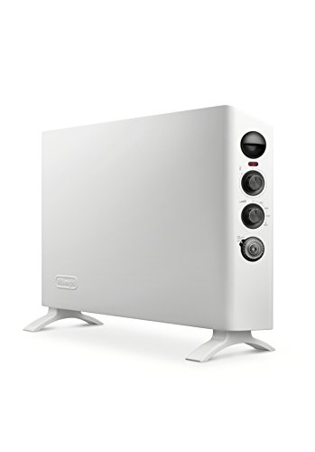 Delonghi HSX3315FTS Slim Style Digital 1500W Convection Panel Heater with Dual Fan, White by DeLonghi