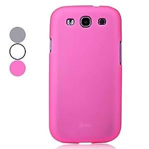 CECT STOCK Estuche protector duro de gama alta de Samsung Galaxy S3 I9300 (colores surtidos) , Gris