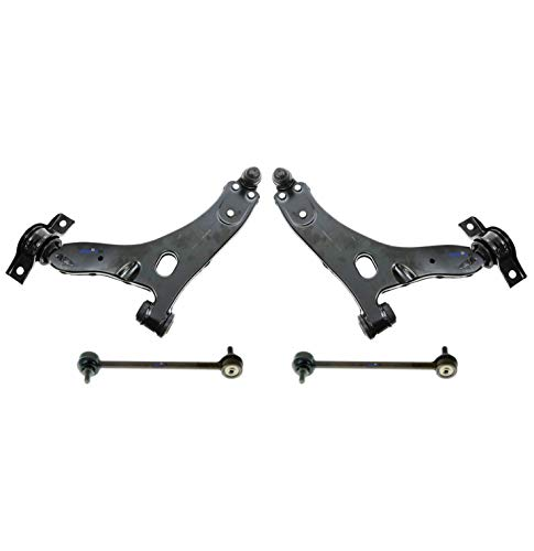 PartsW 4 Piece New Suspension for FORD FOCUS 2005-2010 Front Sway Bars and Lower Control Arm with Ball Joints Left & Right Side