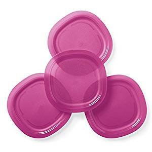 Tupperware Microwave Reheatable Luncheon Plates in Fuchsia Kiss