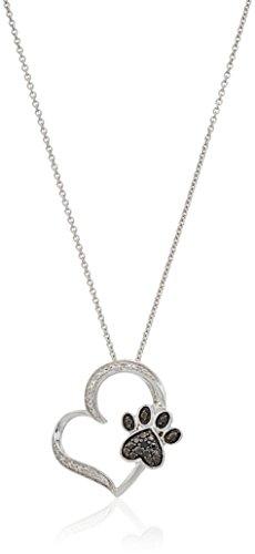 Black & White Diamond Pendant - 6