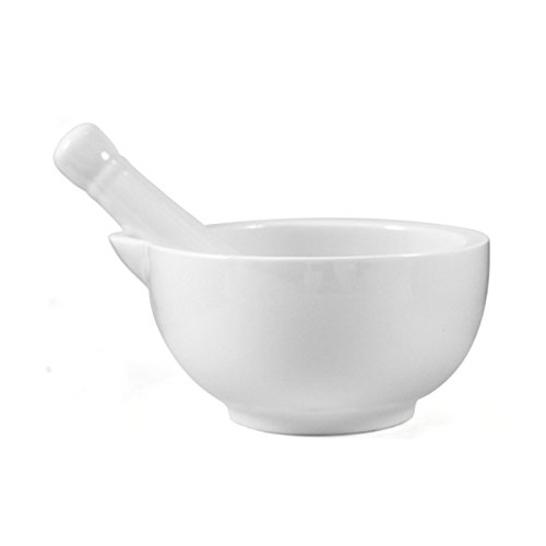 OmniWare White Porcelain Large 4.75 Inch Mortar and Pestle