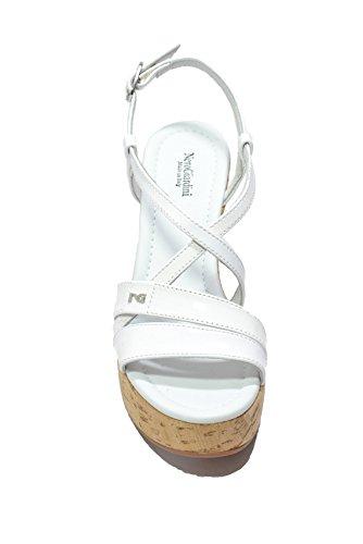 Nero Giardini Sandali zeppa bianco 7660 scarpe donna P717660D