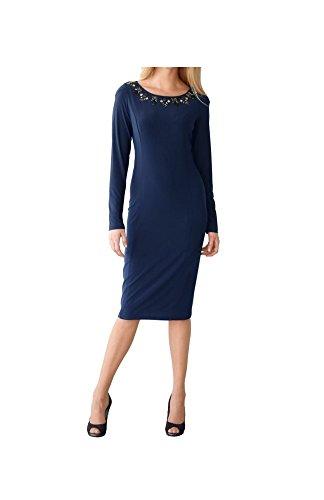 48 Gr Marken Abend 50 Gr marine 0217828465 Jersey Kleid 7fHqw6HR
