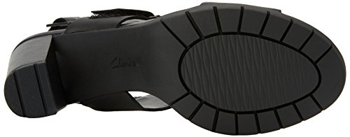 Kurtley Clarks Caviglia Sandali Nero Donna Leather Cinturino Shine Black alla con dxYq6SYwr