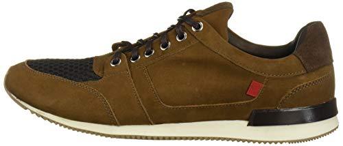 MARC JOSEPH NEW YORK Men's Leather Made in Brazil Luxury Fashion Trainer Sneaker, Tobacco Nubuck, 9 M US