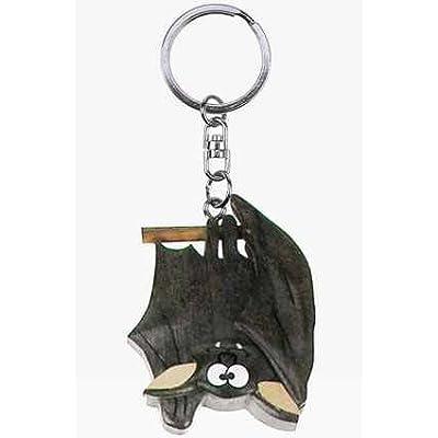 *porte-clés en forme de chauve-souris en bois à suspendre
