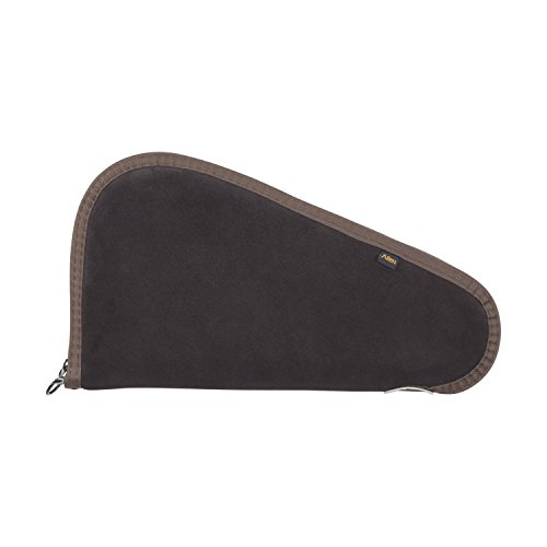 Allen Suede Handgun Case, Brown - Allen Leather