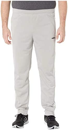[adidas(アディダス)] メンズパンツ・長ズボン・ジャージ下 Big & Tall Essentials 3-Stripe Tricot Open Hem Pants Medium Grey Heather/Black XLT [並行輸入品]