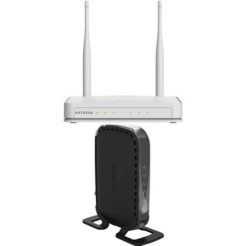 (NETGEAR N300 Wi-Fi Router with High Power 5dBi External Antennas (WNR2020v2) and High Speed DOCSIS 3.0 Cable Modem (CM400-1AZNAS))