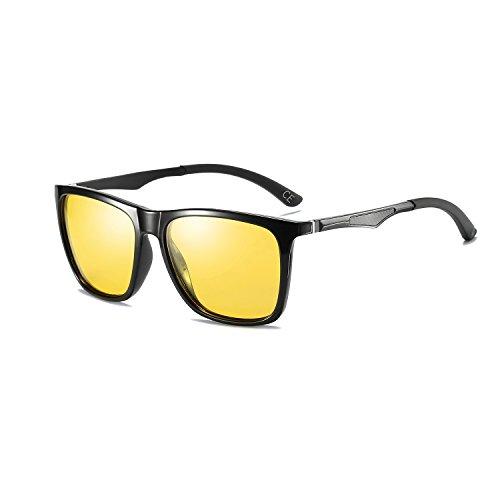Ligero Mujer BLEVET de Night Lens Mg Vision sol Protección Al Black Hombre Metal Gafas UV Polarizado Marco Super Frame BE003 vvwB5xrq
