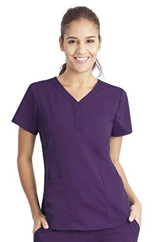 (Purple Label by Healing Hands Scrubs Women's Jane V-neck 2 Pocket Top, X-Large -)