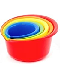 Take (Set of 5) Plastic Mixing Bowls with Pour Spout – .9, 1½, 2½, 4, and 5½, Quart online