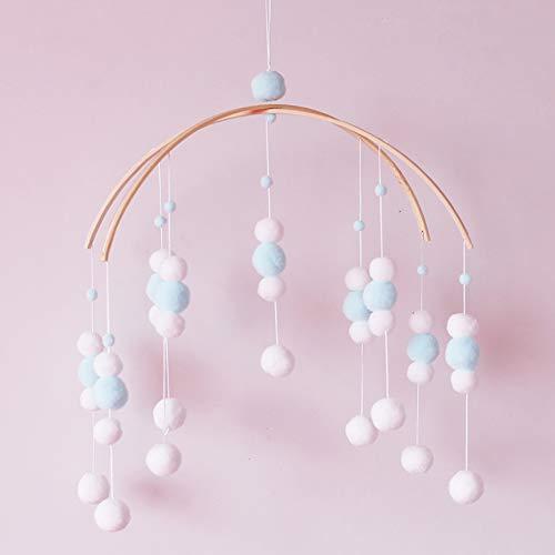 CC Shop Nursery Crib Mobile Baby Bedroom Hanging Ornament Felt Pompon Wind Chime (#32) ()
