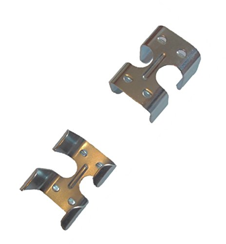 (2 Pack Zinc Plated Medium Duty Double Rope Clamps)
