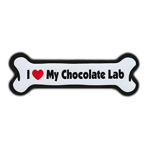Sticker Labrador Chocolate (TiuKiu Bumper Stickers & Decals - I Love My Chocolate Lab (Labrador Retriever) - 7 x 2)