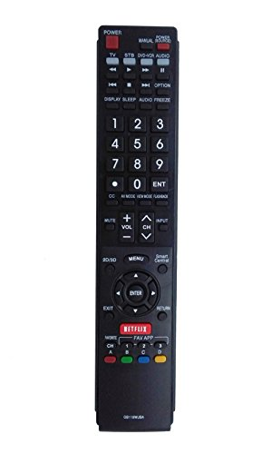 New VINABTY Replacd Remote Controller GB118WJSA fit for Sharp tv LC52LE640 LC40LE835ULC46LE540U LC42LE540U LC52LE640U LC60C6400U LC60LE640U LC60LE750U LC70LE640 LC80LE650U LC60C7450U