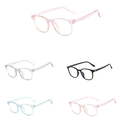 138 Eyeglasses - Tuscom Vintage Round Computer Readers Eyeglasses Frame Stylish Clear Lens Frame Glasses Unisex Prescription Lens Glasses (Gray)