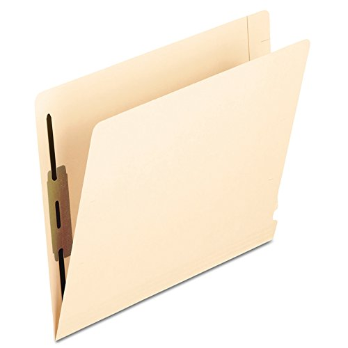 Pendaflex 13240 Laminated Spine End Tab Folder with 2 Fasteners, 14 pt Manila, Letter (Box of 50)
