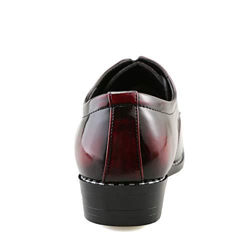Oxford in Business uomo Color uomo da Uomo coccodrillo Xiaojuan Scarpe pelle Reddish verniciata Scarpe lavoro Brown Pelle di EU Nero da da 38 Casual shoes Dimensione Iq7CxqwP