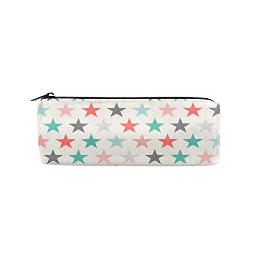 - Lcokin Customize Retro-Color Pentagon Cylindrical Pencil Bag, Pencil Box Zipper Stationery Bag, Wash Bag